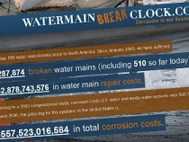 Water Main Break Clock